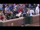 Boy catches baseball and gives it to girl... or does he? - YouTube